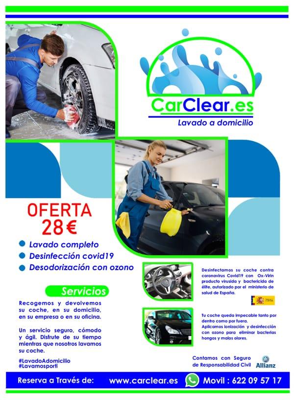 carclear lavado de coche a domicilio